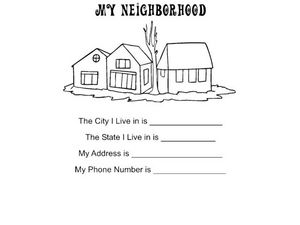 My Neighborhood Worksheet