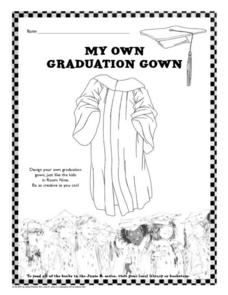 My Own Graduation Gown Worksheet