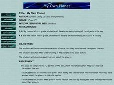 My Own Planet Lesson Plan