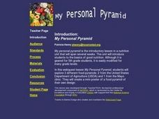 My Personal Pyramid Lesson Plan