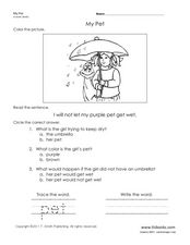 My Pet Worksheet
