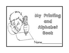 My Printing And Alphabet Book-- Letters Aa-Mm Worksheet
