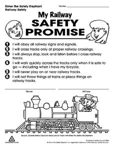 My Railway Safety Promise Worksheet