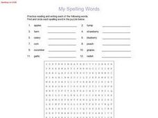 My Spelling Words: Spelling List #128 Worksheet