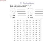 My Spelling Words:  Spelling List #140 Worksheet