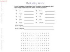My Spelling Words:  Spelling List #83 Worksheet