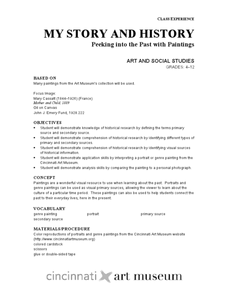 My Story and History: Peeking into the Past with Paintings Lesson Plan