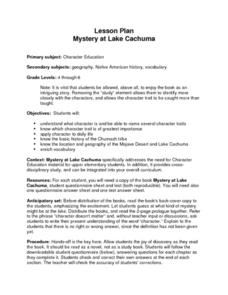 Mystery at Lake Cachuma Lesson Plan