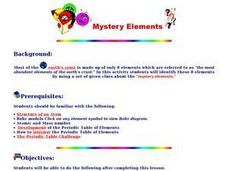 Mystery Elements Lesson Plan
