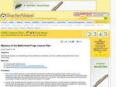Mystery of the Malformed Frogs Lesson Plan Lesson Plan