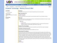 Mystery Person E-Mail Lesson Plan