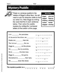 Mystery Puddle Worksheet