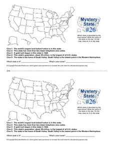 Mystery State #26 Worksheet