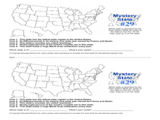 Mystery State #29 Lesson Plan