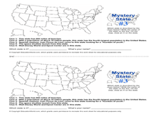 Mystery State #3 Worksheet