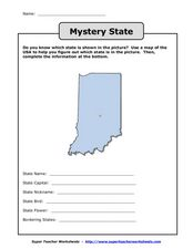 Mystery State Worksheet