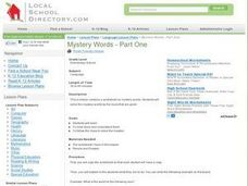 Mystery Words - Part One Lesson Plan