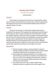 Edith Hamilton  Mythology by Skylar Howard on Prezi AP English Becker Mythology Project