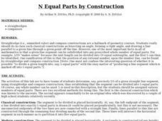 N Equal Parts by Construction Lesson Plan