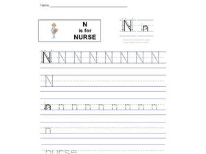 N Is For Nurse Worksheet