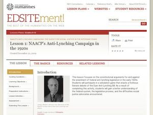 NAACP's Anti-Lynching Campaign in the 1920s Lesson Plan