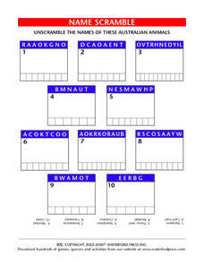 Name Scramble Lesson Plan
