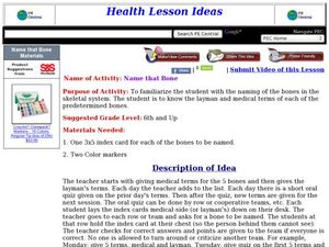 Name that Bone Lesson Plan