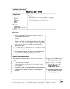 Names for 100 Lesson Plan
