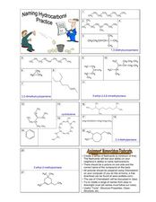 Naming Hydrocarbons Practice Worksheet