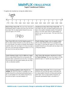Napier's Intellectual Children Worksheet