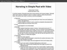 Narrating in Simple Past with Video Lesson Plan