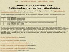 Narrative Literature Response Letters Lesson Plan