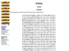 NASA Word Puzzle Worksheet