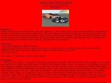 Nascar Reading Lesson Plan