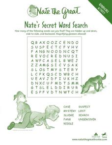 Nate the Great's Secret Word Search Worksheet