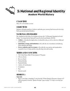 National and Regional Identity Lesson Plan