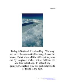 National Aviation Day: August 12 Worksheet