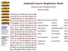 National Cancer Registrars Week Worksheet