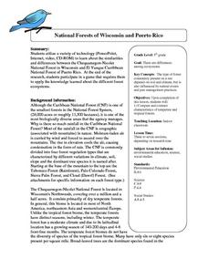 National Forests of Wisconsin and Puerto Rico Lesson Plan