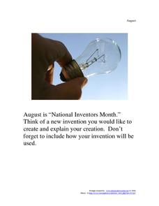 National Inventors Month: August Worksheet