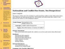 Nationalism and Conflict-Two Fronts, Two Perspectives! Lesson Plan