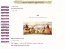 Native American Appreciation Performances Lesson Plan
