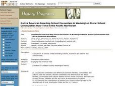Native American Boarding School Encounters in Washington State: School Communities Over Time in the Pacific Northwest Lesson Plan