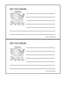 "Native American ""Did You Know..."" Cards Worksheet"