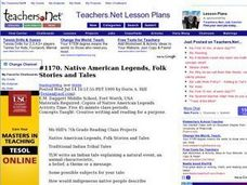 Native American Legends, Folk Stories and Tales Lesson Plan