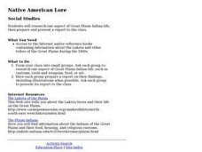 Native American Lore Lesson Plan