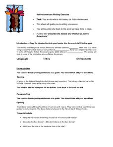 Native American Writing Exercise Worksheet