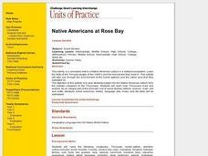 Native Americans at Rose Bay Lesson Plan