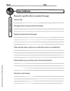 Native Americans: Data Collector Worksheet