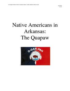 Native Americans in Arkansas: The Quapaw Lesson Plan